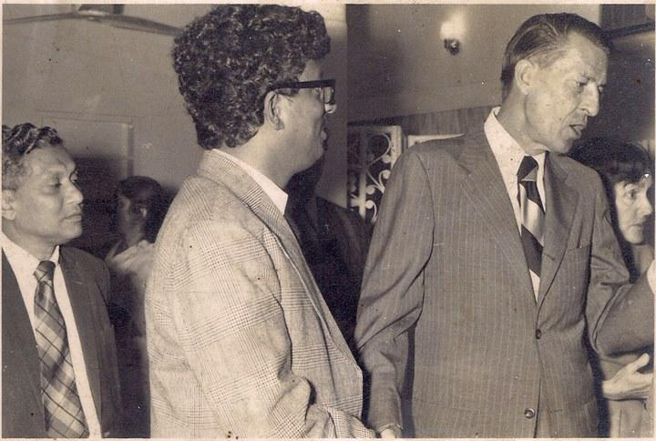 The great American Political Scientist accompanied with Founder Chief editor Golam Rasul Mallick of Eastern News Agency-ENA