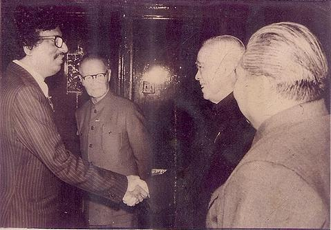 The Great Chinese Leader Den Xiaoping of Republic of China meeting gathering with Founder Chief editor Golam Rasul Mallick of Eastern News Agency-ENA