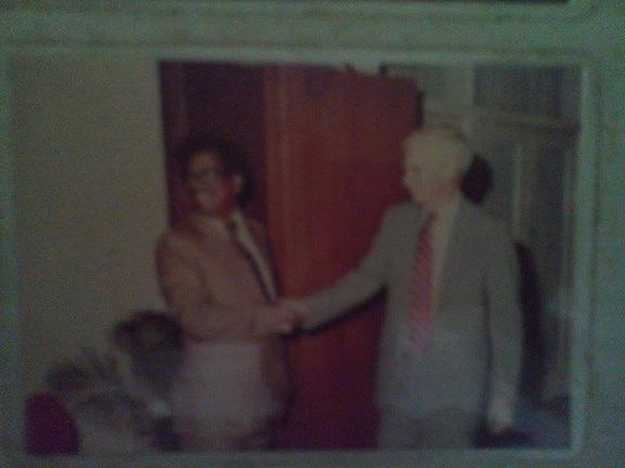 Founder Chief editor Golam Rasul Mallick of Eastern News Agency-ENA in a pleasant moment with US leader