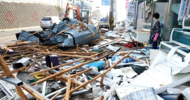 At least 1 person killed as Typhoon Maysak lashes waterlogged Koreas