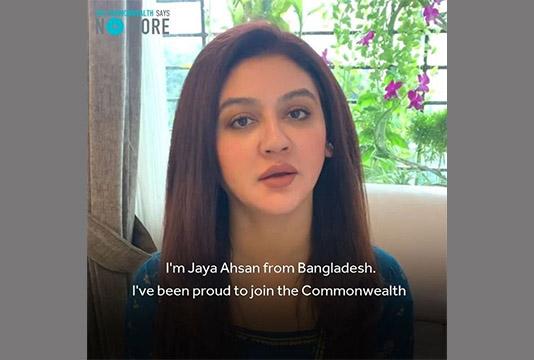 Actress Jaya Ahsan joins global campaign to stop domestic violence