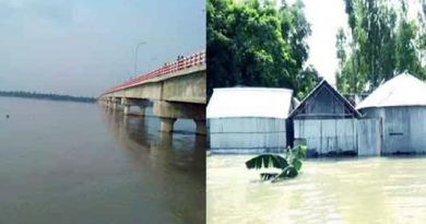 Dharla crosses danger mark as major rivers rise in B'putra basin