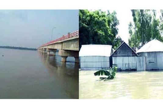 Dharla crosses danger mark as major rivers rise in B'putra basin