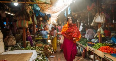 A Portrait of a Market in India Run Solely by Women