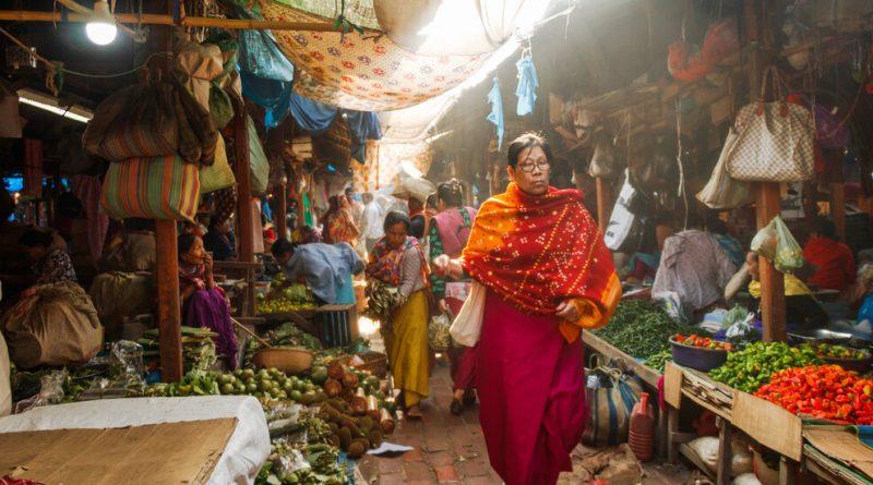 A Portrait of a Market in India Run Solely by Women