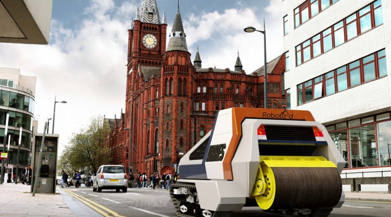 In UK, researchers develop autonomous vehicles that repair roads