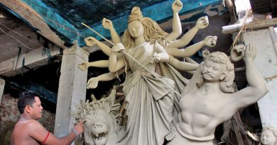 Durga Puja preparations going on in full swing