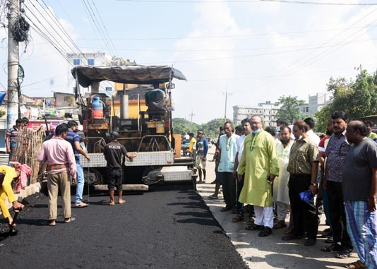 City road construction project works progressing fast in Rajshahi
