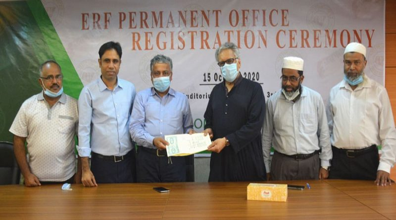 ERF permanent office registration completed