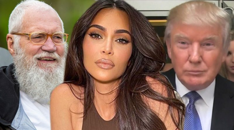 Kim Kardashian Tells Letterman She Stands By Working with Trump