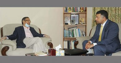 Anisul discusses training of judges, lawyers with Indian envoy