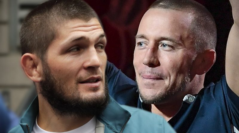 Khabib vs. Georges St-Pierre Was Late Father's Dream, Trainer Says