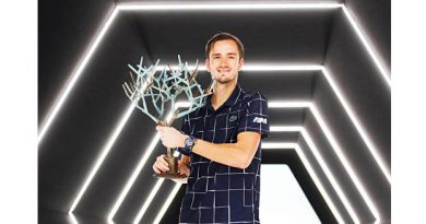 Medvedev wins third Masters title