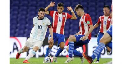 Argentina draw 1-1 with Paraguay