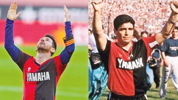 Messi imitates Maradona's goal to pay homage