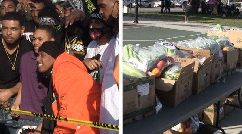 Dr. Dre, Nick Cannon Host Feed Your City Event in Compton