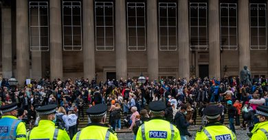 Liverpool Demonstration Protesting Lockdown in England