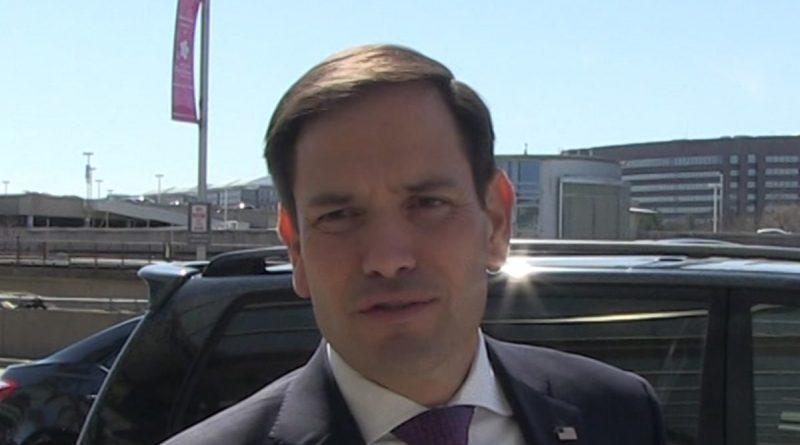 Senator Marco Rubio gets the COVID Vaccine in Very Pale Arm
