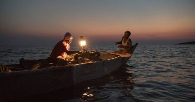 Fishing by Lantern on an Island in Kenya