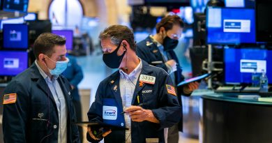 Stock futures modestly lower after major averages close at record highs