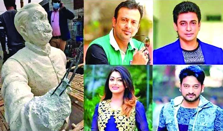 Celebrities protest Bangabandhu's sculpture demolition in Kushtia | The Asian Age Online, Bangladesh