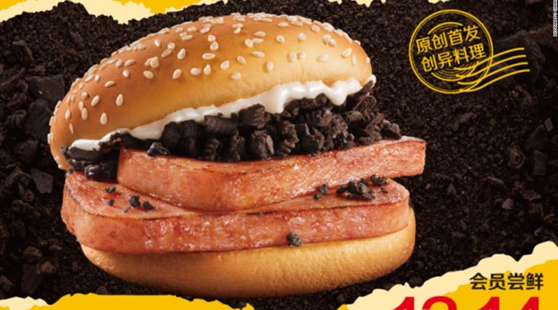 McDonald's China introduces Spam burger with Oreo crumbs
