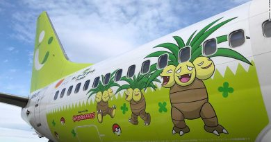 Pokemon plane debuts in Japan