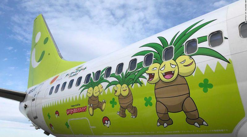 Pokemon plane debuts in Japan