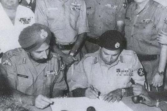 I had set the surrender stage at Race Course: Indian Brig