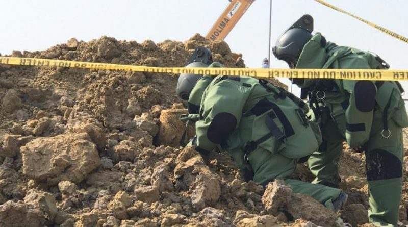 250kgs of wartime bomb found at HSIA