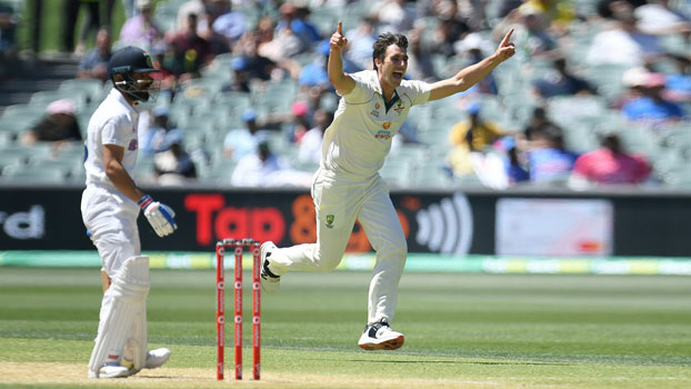 India crumble to record  low as Aussies win first Test