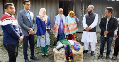 Man who wears wife's scarf as lungi gets assistance  – Countryside – observerbd.com