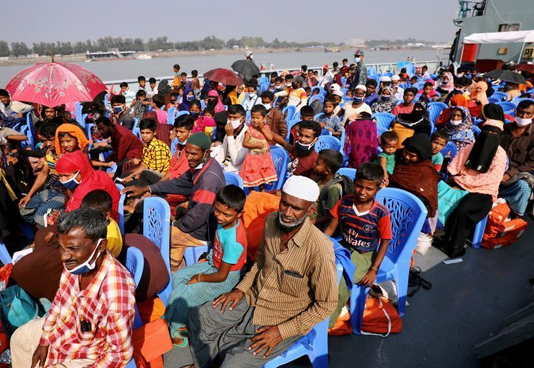 2nd batch of Rohingyas starts reaching Bhasan Char