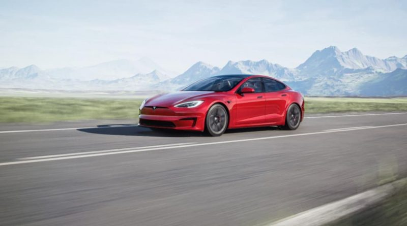 Tesla Model S update shown in Q4 2020 earnings release