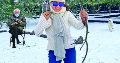 Salma Hayek joins Bernie Sanders meme bandwagon | The Asian Age Online, Bangladesh