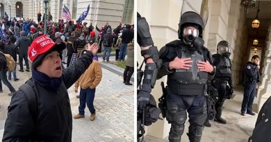 Capitol Rioter Screams at Cops Asking Them to Call for Backup to Combat Mob